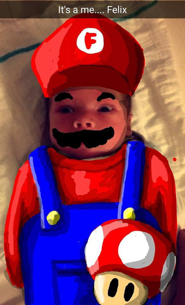 snapdad dad doodles on his baby�s snapchat pics and it�s