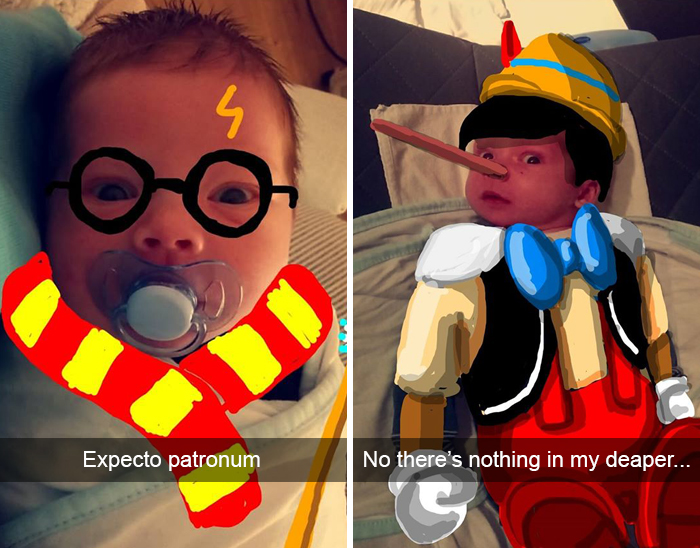 SNAPDAD: Dad Doodles On His Baby's Snapchat Pics And It's Adorable