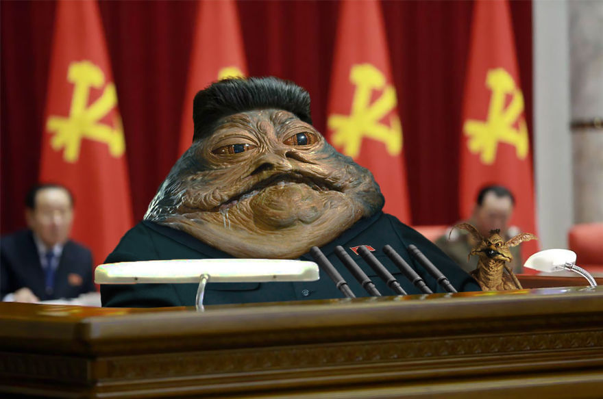 Jabba The Hutt As Leader Of North Korea