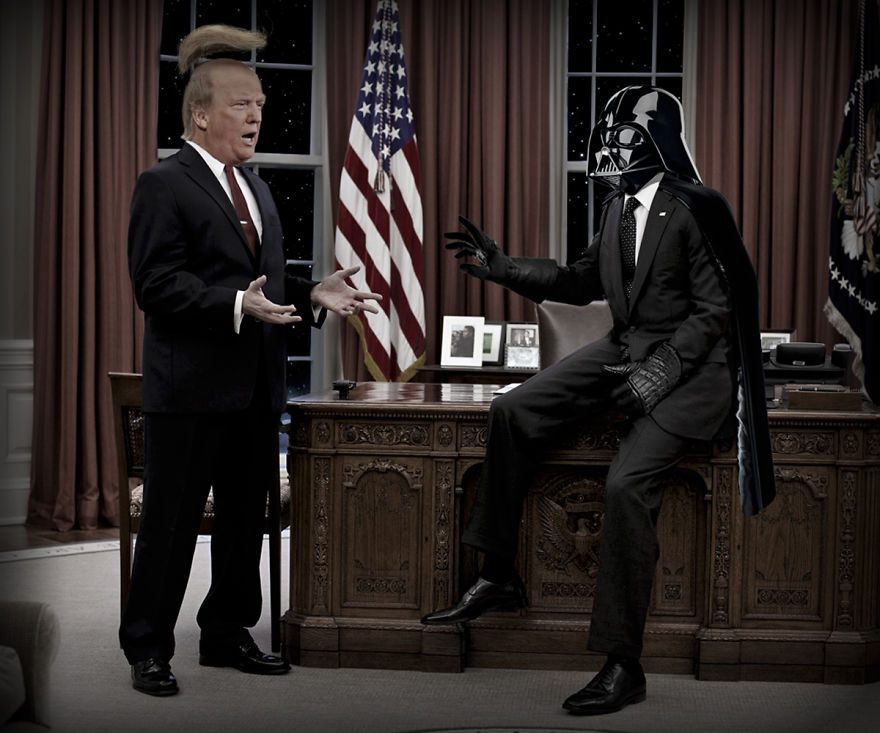 Darth Vader Uses His Powers Against Donald Trump