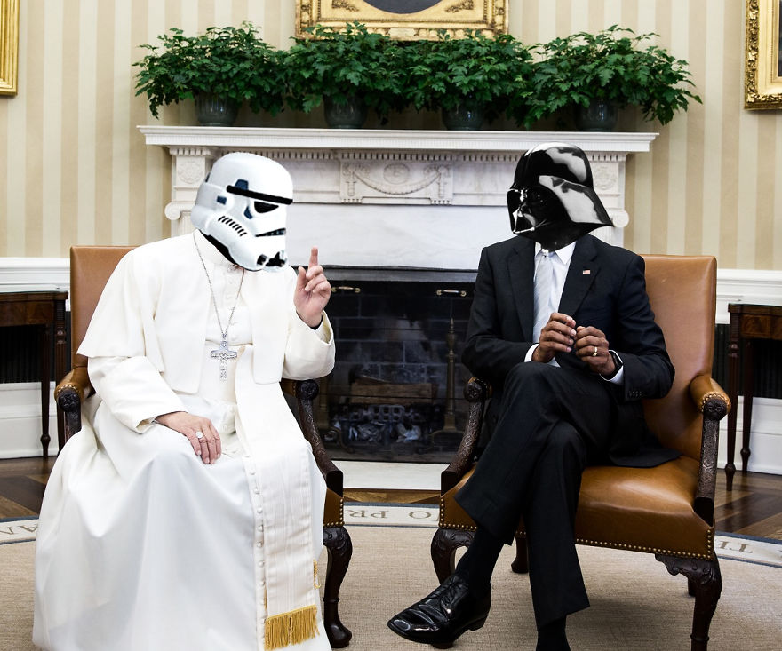 Darth Vader Meets With His Most Powerful Storm Trooper