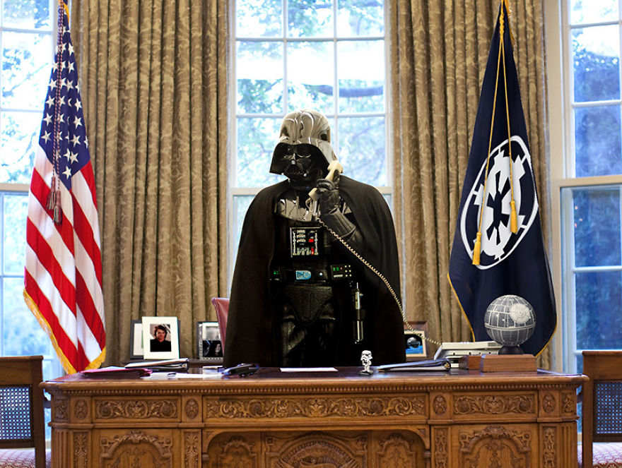 Darth Vader In The Oval Office
