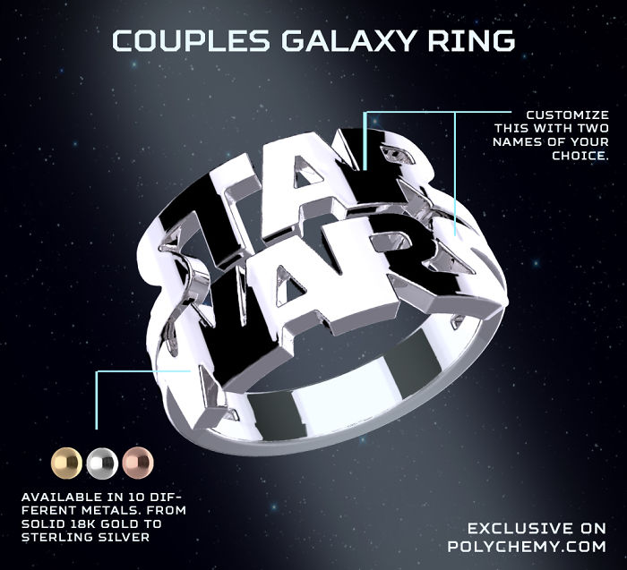 Star Wars Inspired Couples Ring