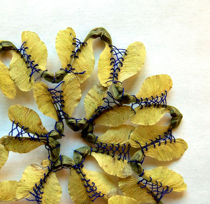 I Transform Leaves Into Art With Embroidery