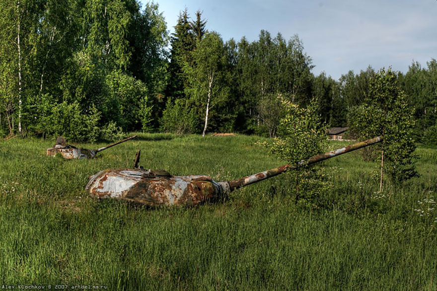 Abandoned Tank Base In Russia