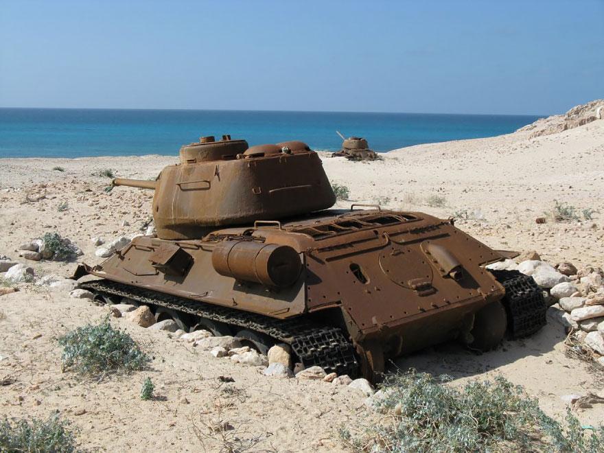 Abandoned Tank In Yemen