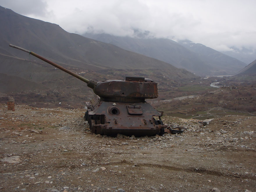 Tank Outside Of Massoud's Tomb In Afghanistan