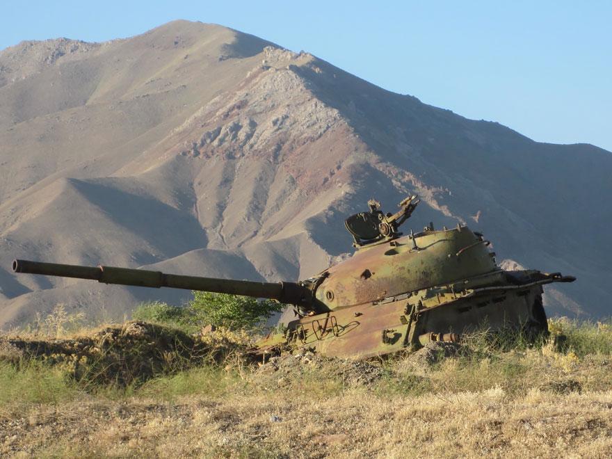 废弃的苏联坦克在阿富汗