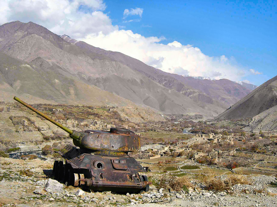Abandoned Tank In Afghanistan