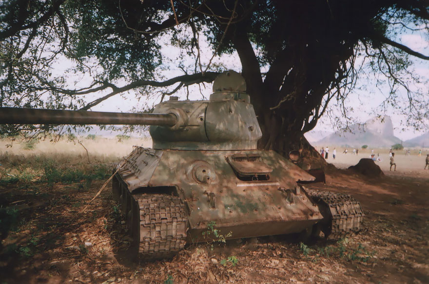 Abandoned Tank In Cuamba, Mozambique