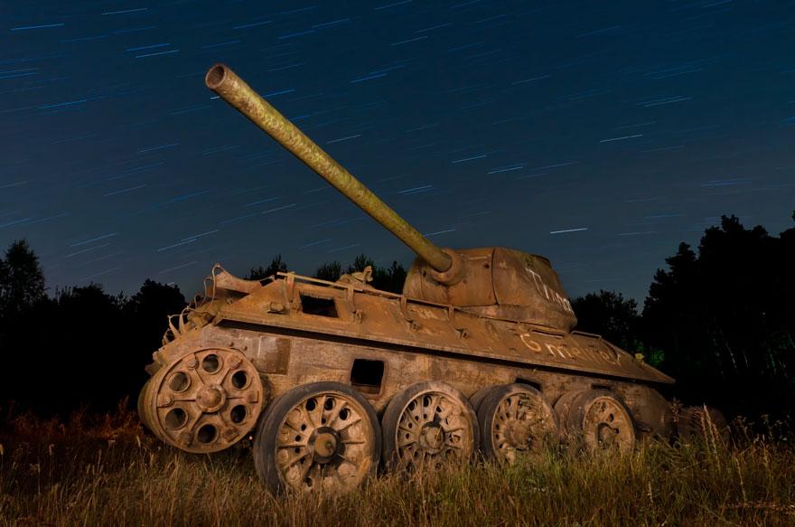 Abandoned Tankn In East Germany