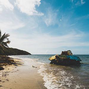 Tank In Flamenco Beach In Culebra, Puerto Rico
