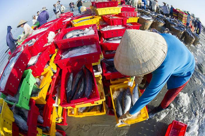 The Pace Of Life At Long Hai Fishing Port.