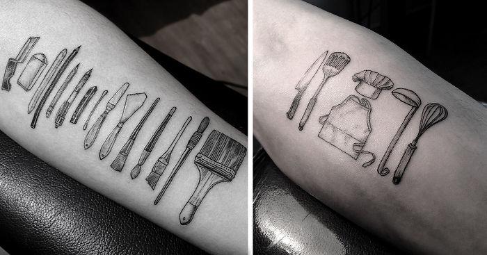 artist tattoos tools of people s professions on their skin bored panda. Black Bedroom Furniture Sets. Home Design Ideas