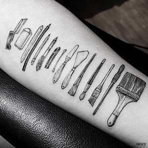 Artist Tattoos Tools Of People's Professions On Their Skin