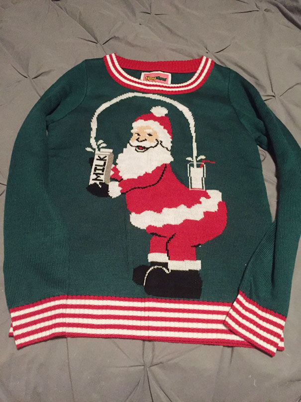 44 Of The Ugliest Christmas Sweaters Ever Submit Yours Bored Panda