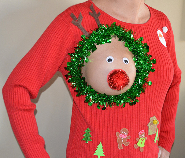 Breastfeeding Mom's Ugly Christmas Sweater