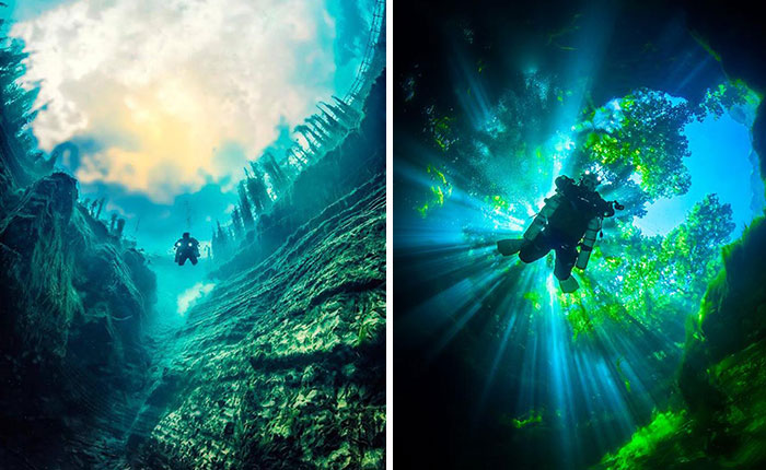 The Magical Underwater World Of Albanian Caves
