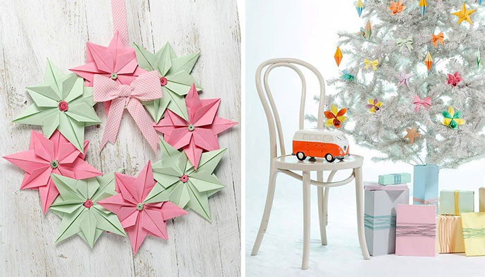 I Create Paper Decorations To Make Our Christmas Fun And Unique