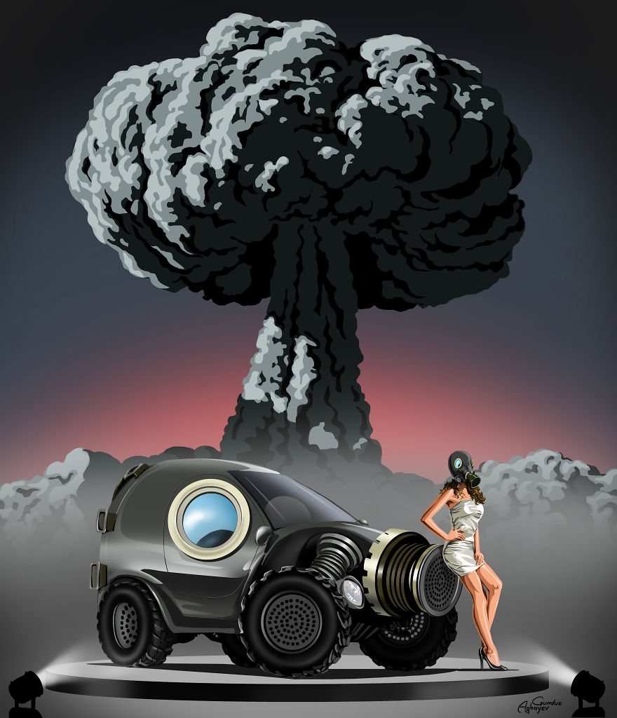 War And Peace: New Powerful Illustrations By Gunduz Aghayev