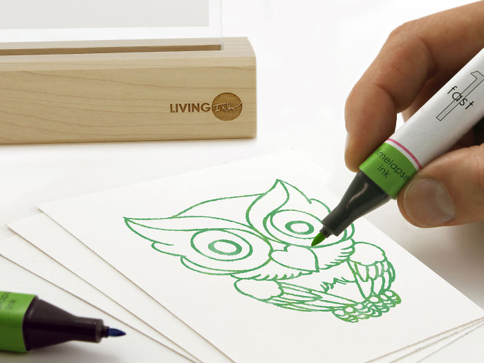 We Used Living Algae Cells To Create This Pen That Makes Your Stories Grow Over Time