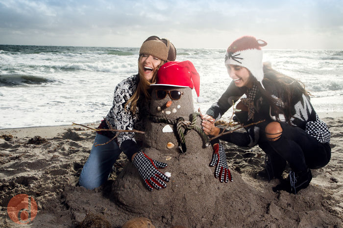 Winter In Florida, & The (sand)snowman