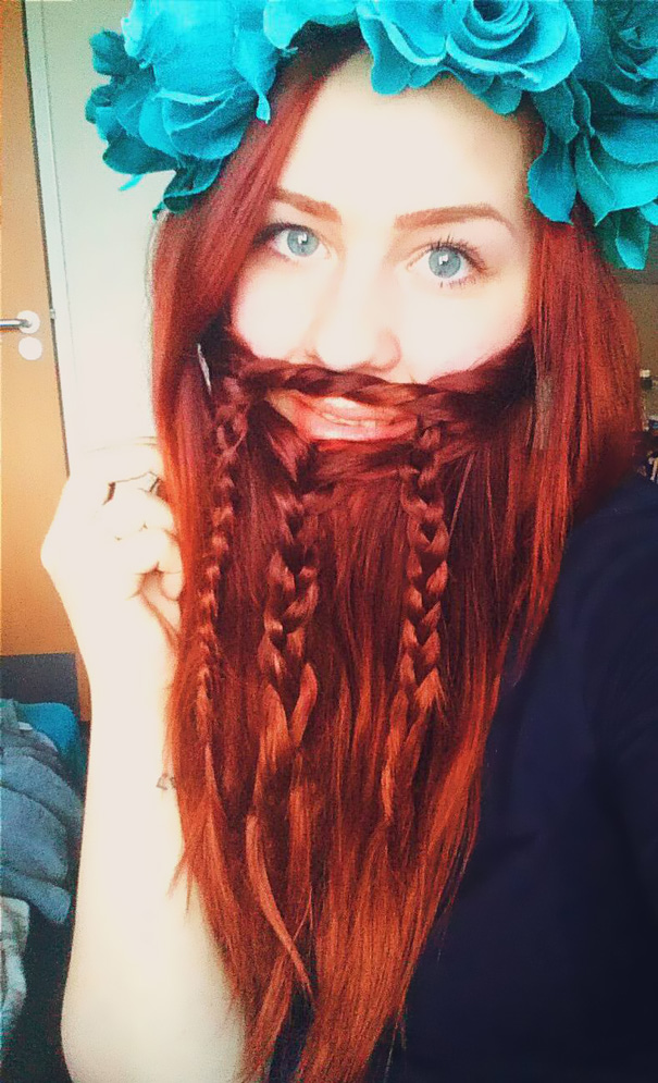 10 Women Who Braided Their Hair Into Beards That Make Men