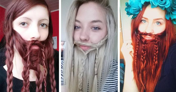 10 Women Who Braided Their Hair Into Beards That Make Men