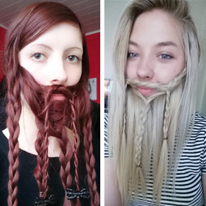 10+ Women Who Braided Their Hair Into Beards That Make Men Envious