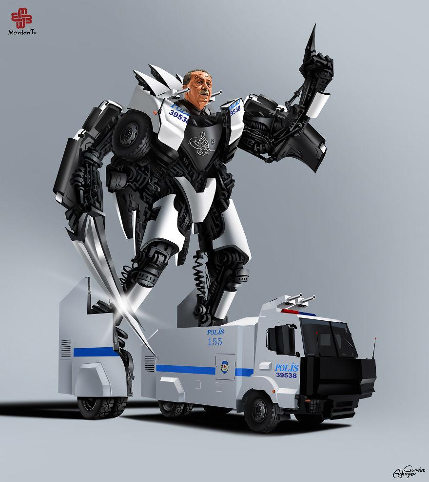 World Leaders Illustrated As Transformers By Gunduz