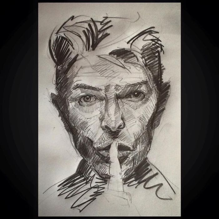 David Bowie (pencil)