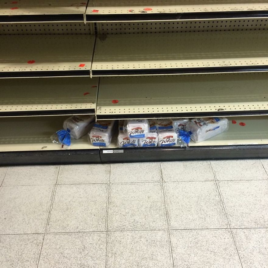 Blizzard Or Not, Brooklyn Residents Do Not Accept White Bread
