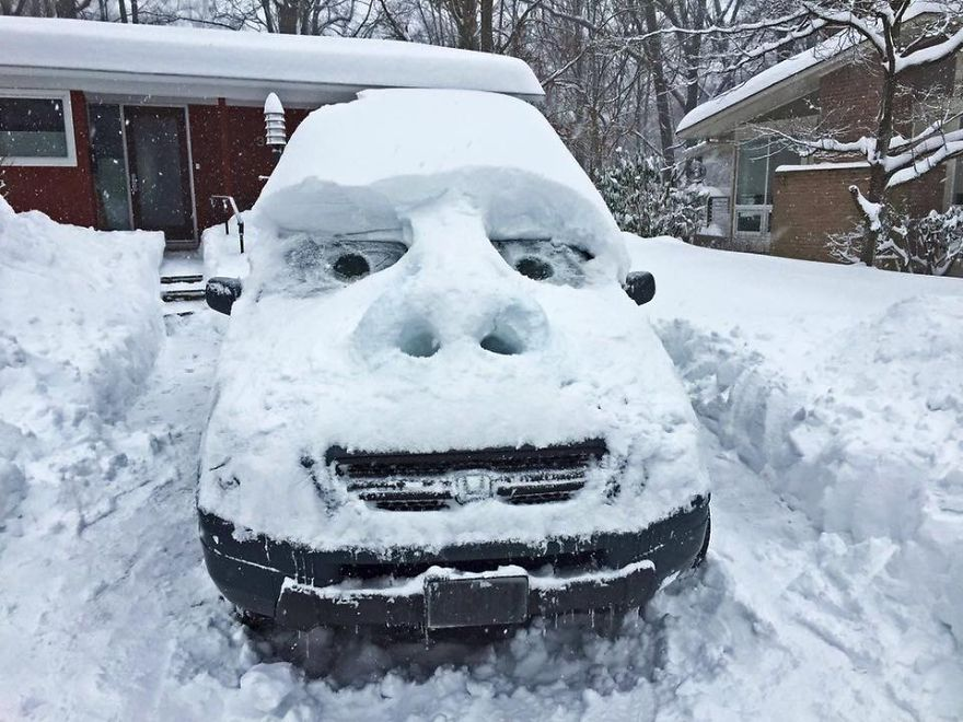 Snow Got You Down? Put On Your Happy Face!