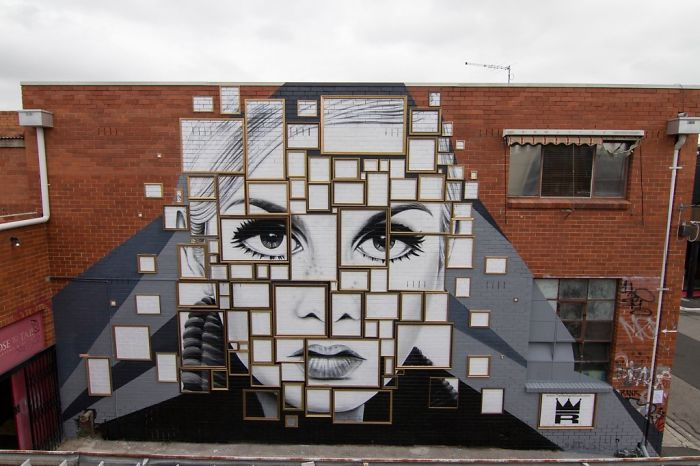 200+ Frames Were Used In The Making Of This Twiggy Mural That We Painted