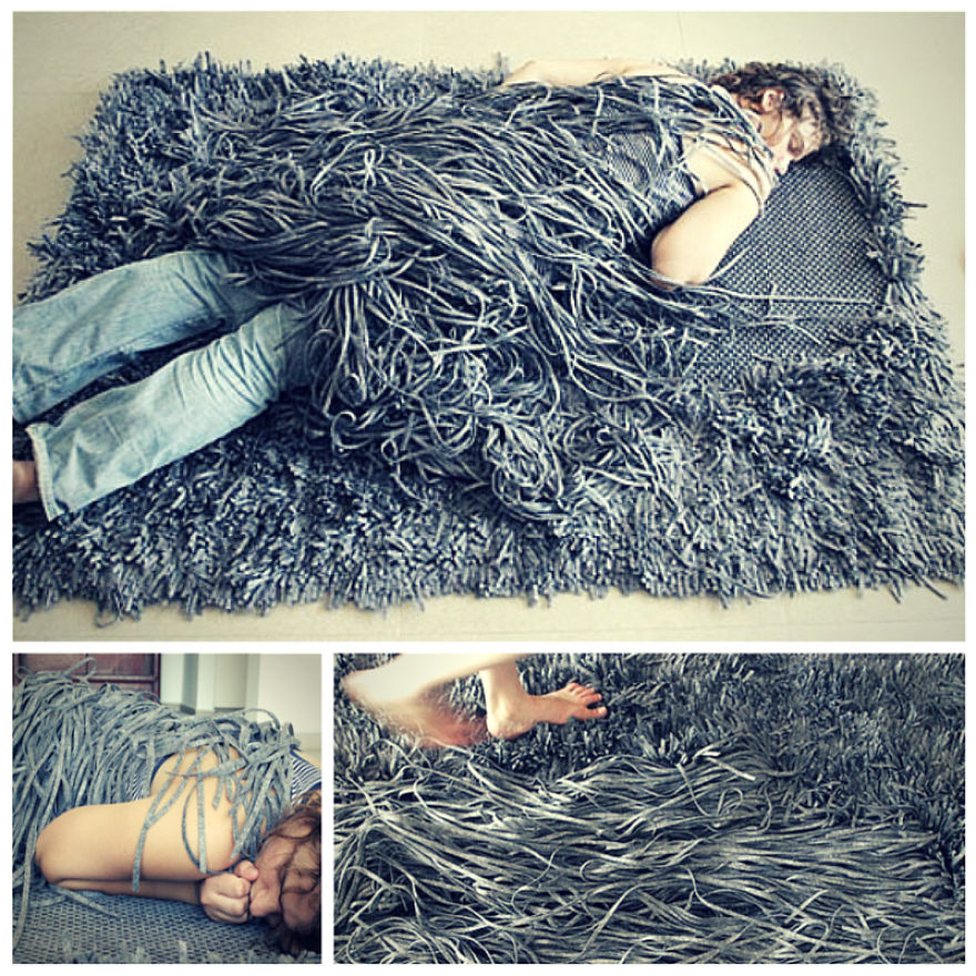 The Comb Over Carpet - This Unhygienic Carpet Is Created By The Israeli Designer Meirav Barzilay