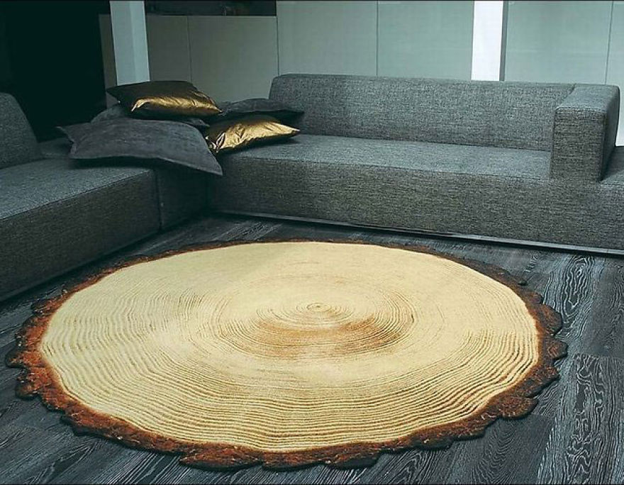 The Log Slice Rug - Created By Yvette Laduk With Highly Durable Materials