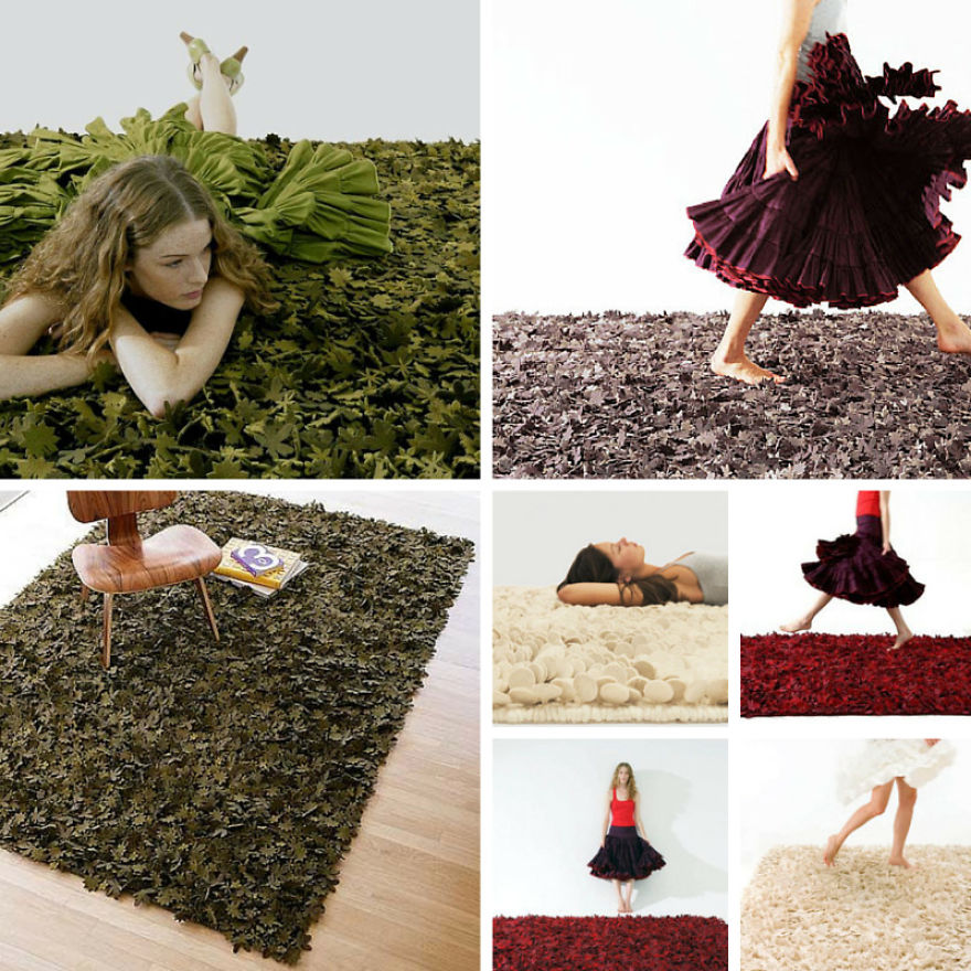 The Flower Rug - Tord Boontje Created This Creative Rug In 2006 Using Small Woven Felt Flowers