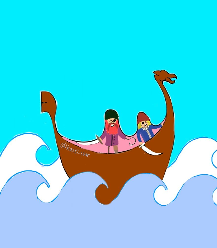 Vikings With Dragon Boat