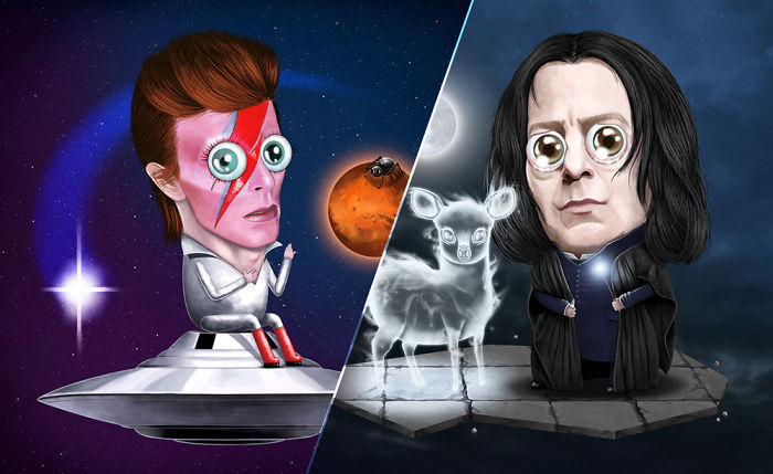 I Wanted To Honour David Bowie & Alan Rickman Through Illustration