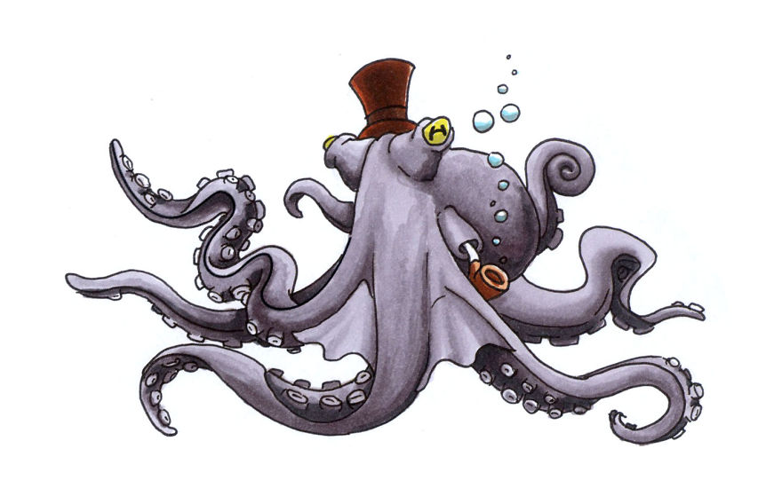 Steampunkin' Octopus