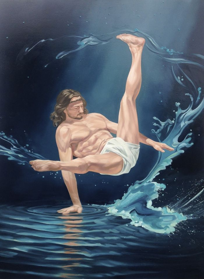 Amusing Artworks Depicting What Jesus Might Get Up To If He Were Alive Today