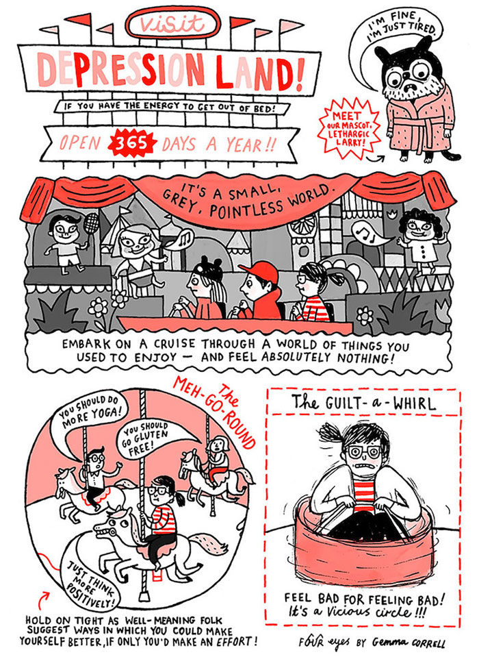Artist Shows How It Feels To Live With Anxiety And
