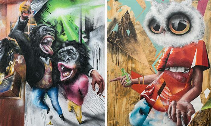 Huminals: My Artworks Reflect On Similarities Between Human And Animal Behaviour