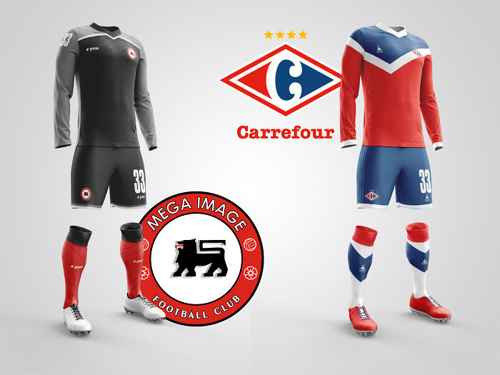 Artist Creates Cool Football Kits That Bring Together Hypermarkets And Football Clubs!
