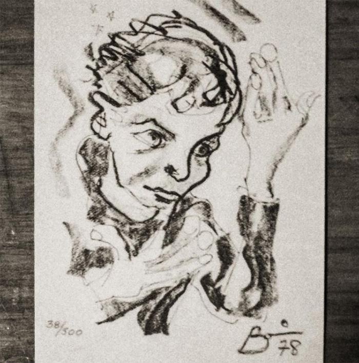 Self Portrait For The Album Cover Of Heroes - By David Bowie
