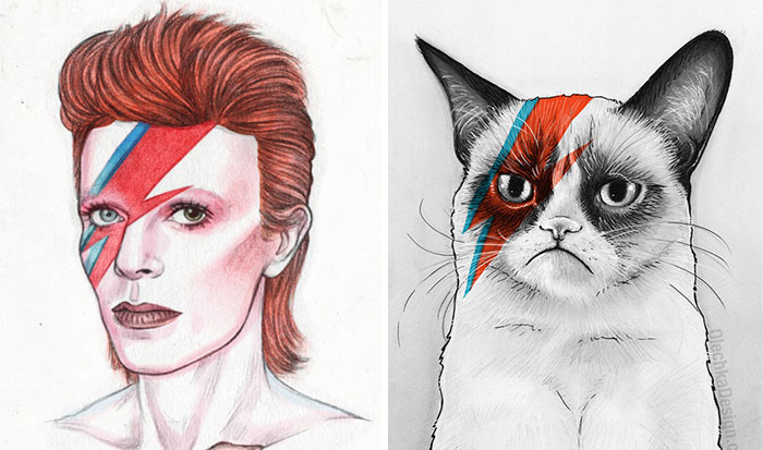 Artists Pay Tribute To Late David Bowie (15+ Pics)