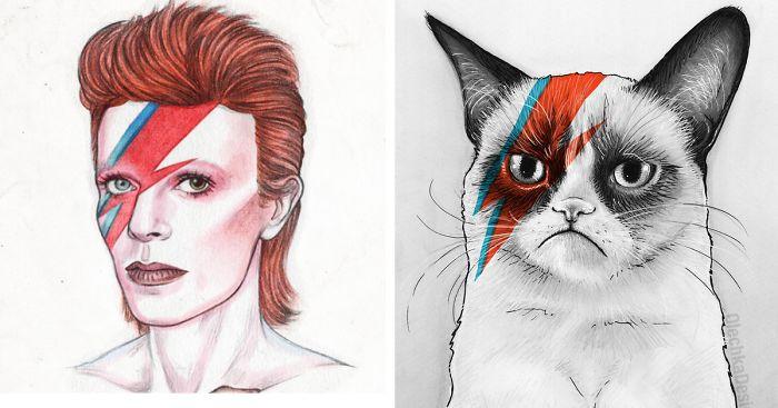 Gallery For gt Bad David Bowie Fan Art