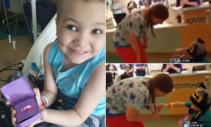 "Boy Battling Leukemia Proposes To His Favorite Nurse Called ""tall Sarah"""