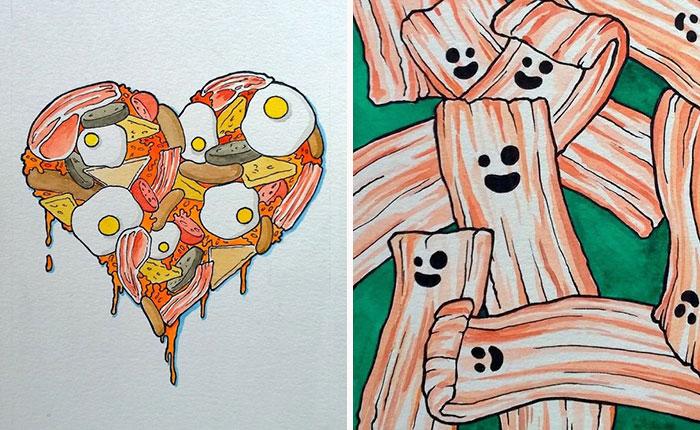 I Draw Greasy Breakfasts Using Watercolour
