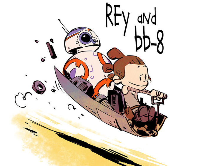 """Star Wars"" Reimagined As ""Calvin & Hobbes"" Characters"
